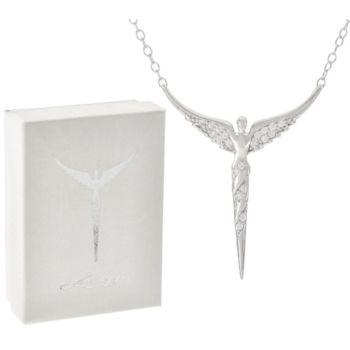 Diamonique Sterling Illuminated Angel by Steven Lavaggi