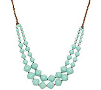 "31 Bits Double Layer Beaded 30"" Voyager Necklace - J349297"
