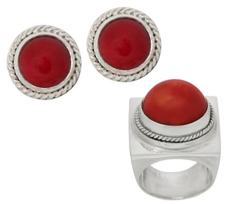 EXEX by Claudia Agudelo Sterling Silver Cabochon Ring or Earrings