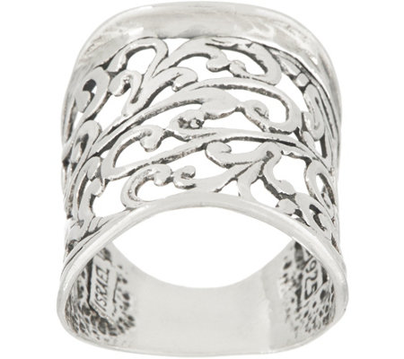 Or Paz Sterling Bold Filigree Ring
