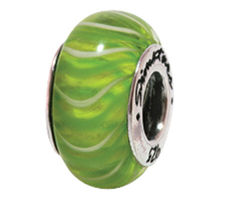 Prerogatives Sterling Green Glass Bead