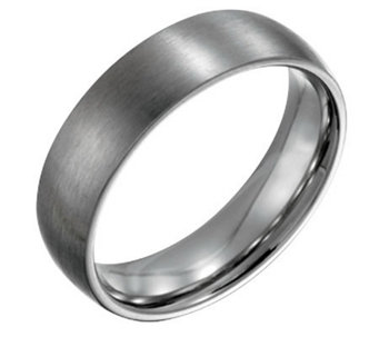 Forza Men's 6mm Steel Brushed Ring - J109498
