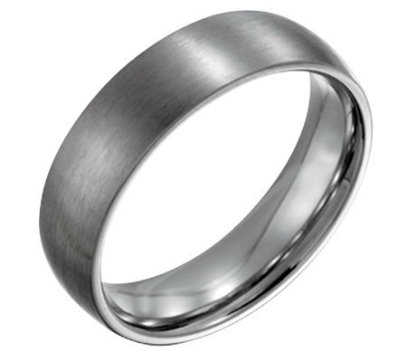Forza Men's 6mm Steel Brushed Ring