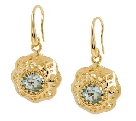 Arte D'Oro 1.20 ct tw Gemstone Dangle Earrings,18K