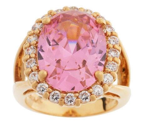 Jacqueline Kennedy Simulated Kunzite Ring
