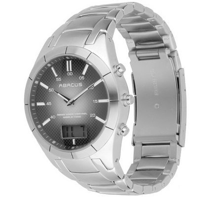 Abacus byFossil Stainless Steel Men's Bracelet Watch with Sub-dial