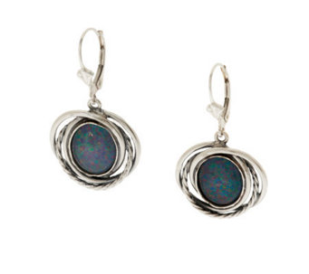 Or Paz Sterling Australian Opal Triplet Dangle Earrings - J278798