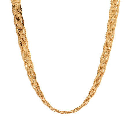 """As Is"" Veronese 18K Clad 20"" Polished Necklace"