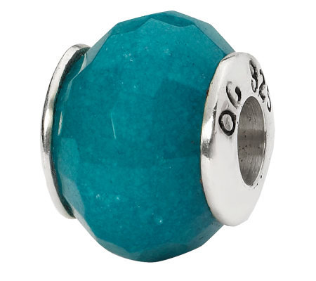 Prerogatives Sterling Light Blue Quartz Gemstone Bead