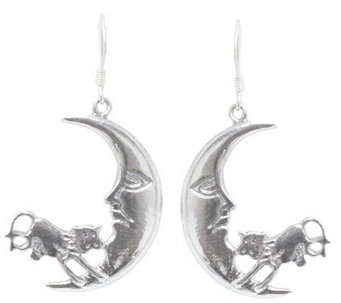 "Novica Artisan Crafted Sterling ""Moon Jump"" Earrings - J308198"