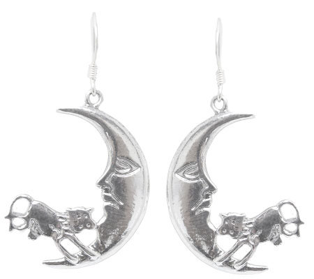 "Novica Artisan Crafted Sterling ""Moon Jump"" Earrings"