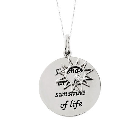 "Sentimental Expressions Sterling 18""  SunshineNecklace"