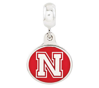 Sterling Silver University of Nebraska Dangle Bead - J314998