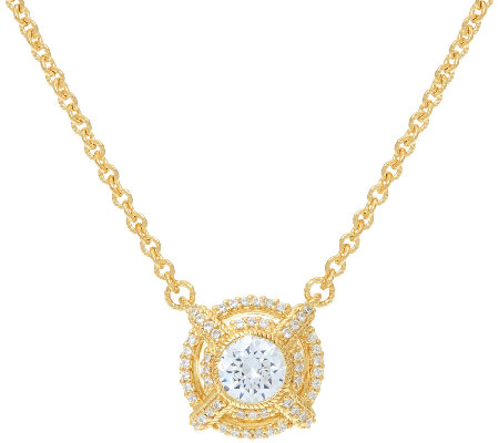 Judith Ripka Sterling & 14K Clad 1.40 cttw Diamonique Necklace