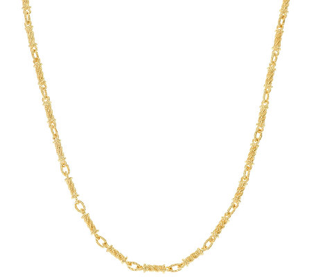 "Judith Ripka Sterling & 14K Clad 20"" Link Necklace"