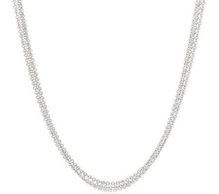 "Judith Ripka Sterling 20"" Multi Strand Toggle Necklace"
