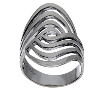 """As Is"" Sterling Silver Polished Swirl Ring by Silver Style - J327098"