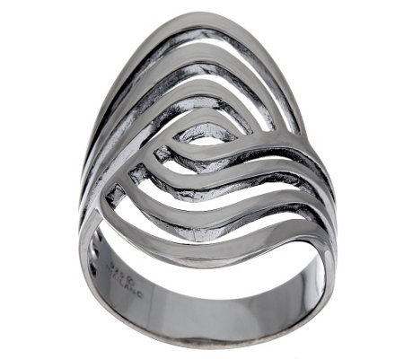 """As Is"" Sterling Silver Polished Swirl Ring by Silver Style"