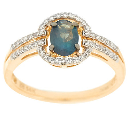 """As Is"" Alexandrite & Diamond Ring 14K Gold 0.65 ct tw"