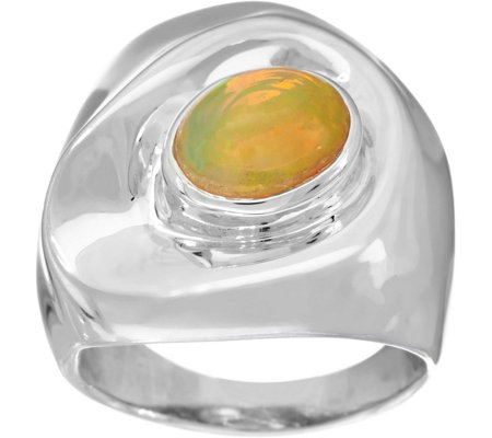 Hagit Sterling Silver Opal Ring
