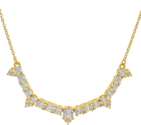 Judith Ripka Sterling/14K Clad_4.35 cttw Diamonique Necklace