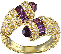 Judith Ripka 14K Clad Choice of Zodiac Ring - J378498