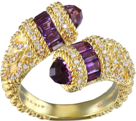 Judith Ripka 14K Clad Choice of Zodiac Ring