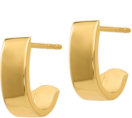 14K Gold Demi Hoop Earrings
