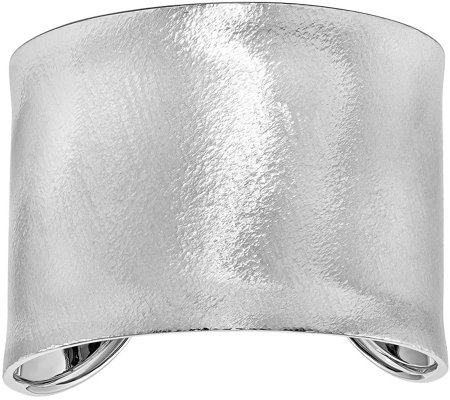 Sterling Extra Wide Textured Cuff, 43.8g by Silver Style
