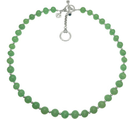 Elyse Ryan Sterling Gemstone Bead Necklace