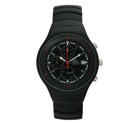 Gino Franco Men's Round Chronograph Black Watch