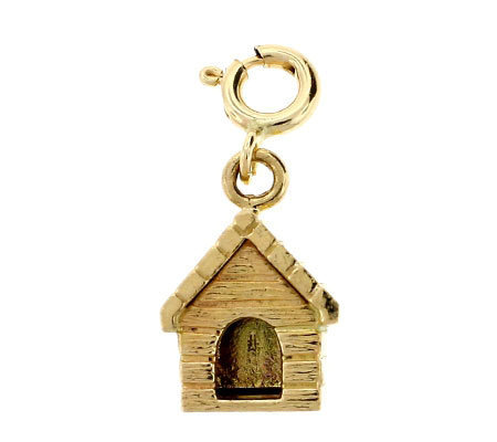 14K Yellow Gold Doghouse Charm