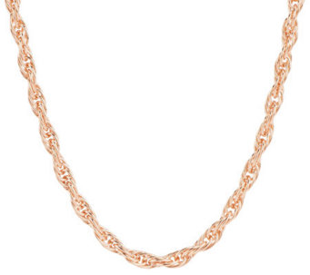 "Bronze 36"" Polished Twisted Rope Necklace by Bronzo Italia - J276099"