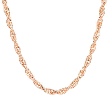 "Bronze 36"" Polished Twisted Rope Necklace by Bronzo Italia"