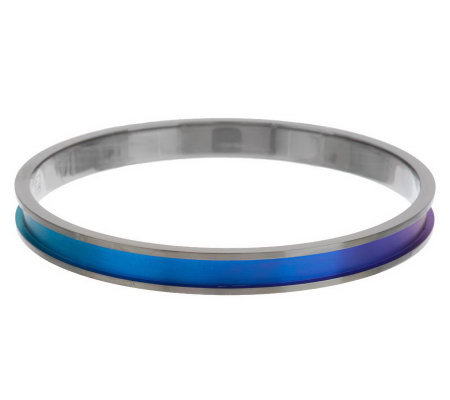 Mirell Titanium Colored Round Bangle Bracelet
