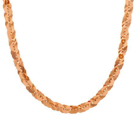 """As Is"" Bronzo Italia 36"" Polished Paillette Link Necklace"