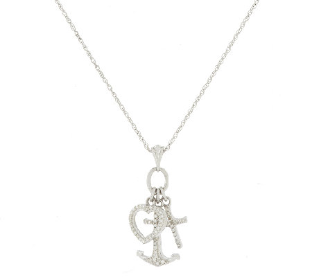Faith hope love diamond necklace sterling by affinity page 1 faith hope love diamond necklace sterling by affinity aloadofball Image collections
