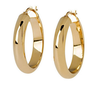 "Veronese 18K Clad 1"" Wedding Band Hoop Earrings - J299099"