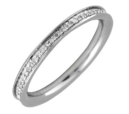 Simply Stacks Sterling & Diamonds Polished 2.25 mm Ring