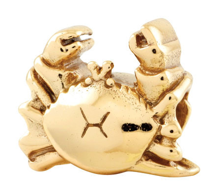 Prerogatives 14K Yellow Gold-Plated Sterling Crab Bead
