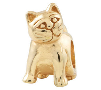 Prerogatives 14K Yellow Gold-Plated Sterling Cat Bead - J302799