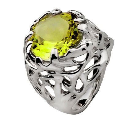 Hagit Gorali 7.15 ct Limon Quartz Ring, Sterling