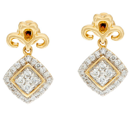 Michael Beaudry 1/3 cttw Diamond Stud Earrings, 14K Gold