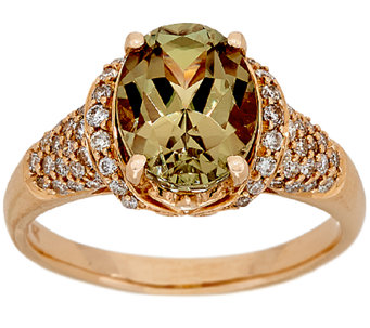 3.00 ct Csarite & 1/2 cttw Diamond Ring 14K Gold - J323999