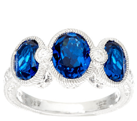 Judith Ripka Sterling Silver Simulated Gemstone Ring