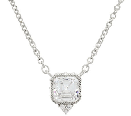 Judith Ripka Sterling or 14K Clad Diamonique Necklace