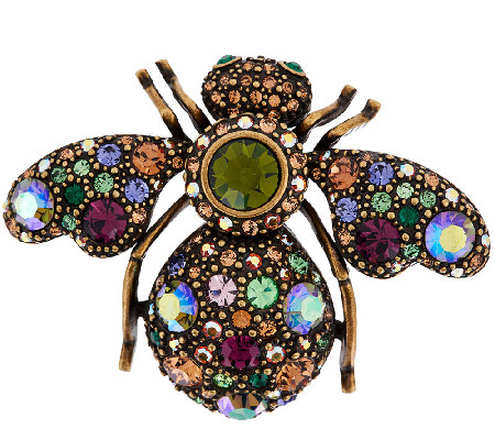 """As Is"" Joan Rivers Prismatic Crystal Bee Pin"