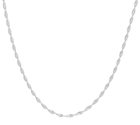 "UltraFine Silver Twisted 40"" Chain Necklace, 8.00g"