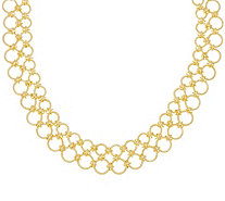 Judith Ripka Verona Sterling 14K Clad Multi-circle Necklace 56.0g - J331599