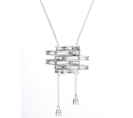 Regina Lane Sterling Abstract Necklace